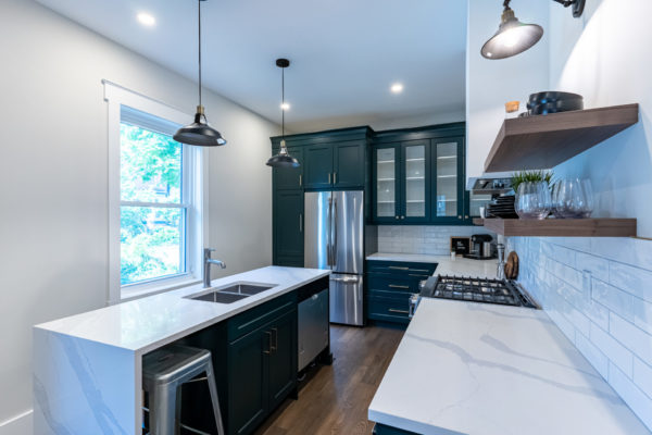 Residential kitchen renovation after photos